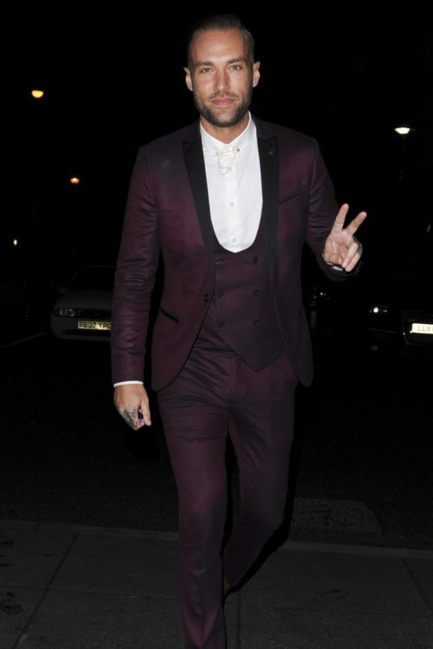 Calum Best looked dapper at the wrap party