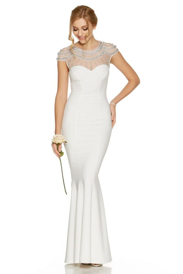 Quiz wedding dress collection 2017 love islands olivia buckland quiz wedding dress collection adella white sequin cap sleeve bridal dress 8999 quiz junglespirit Image collections
