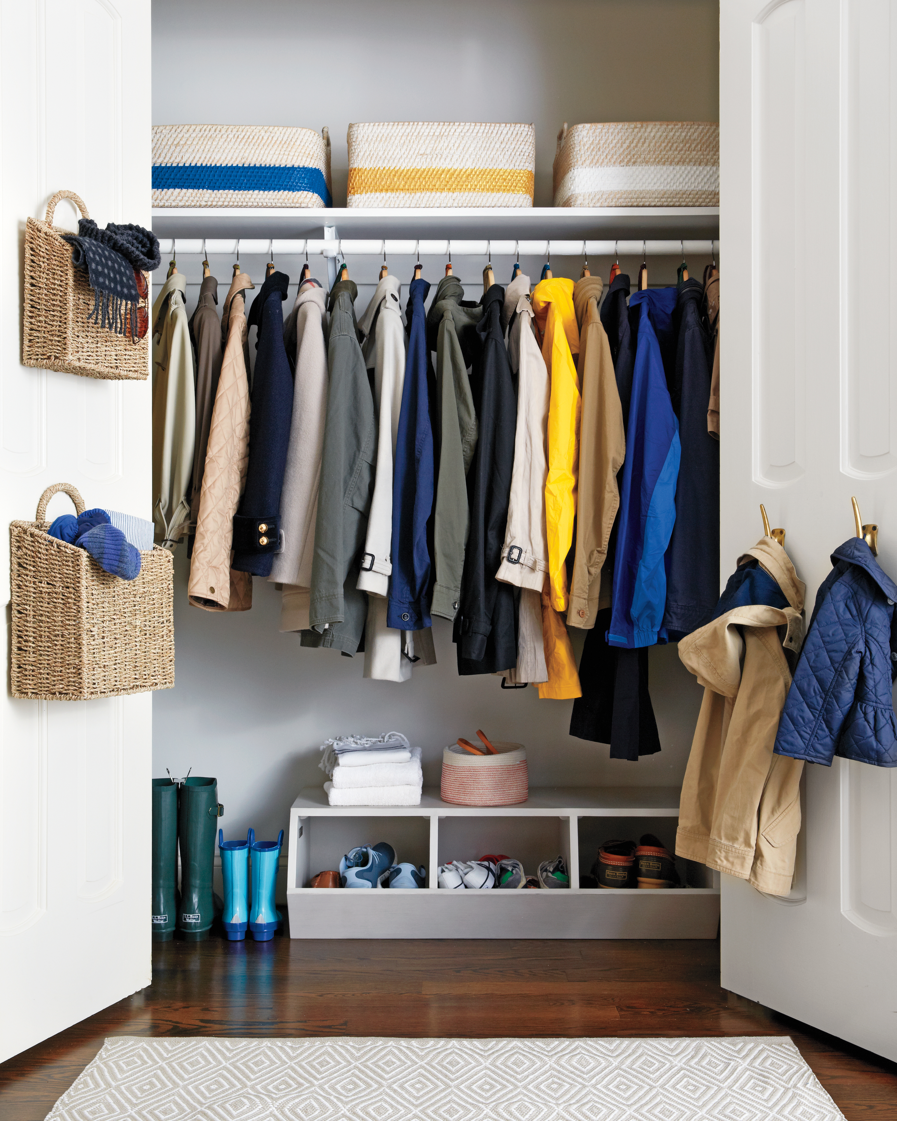 how to declutter your coat closet like a professional martha stewart