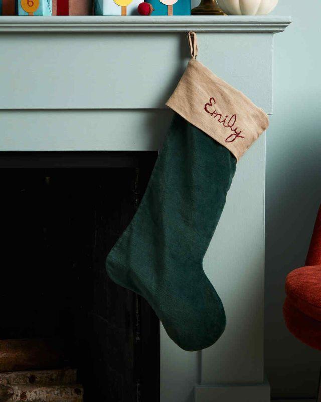 Embroidered Name Christmas Stocking  Martha Stewart