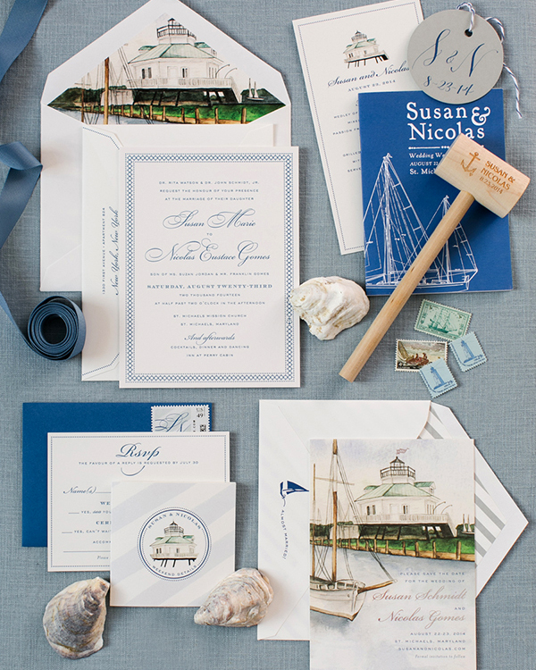 Nautical Wedding Invitations Perfect For A Waterfront