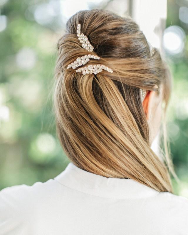 wedding guest hairstyles for every season | martha stewart