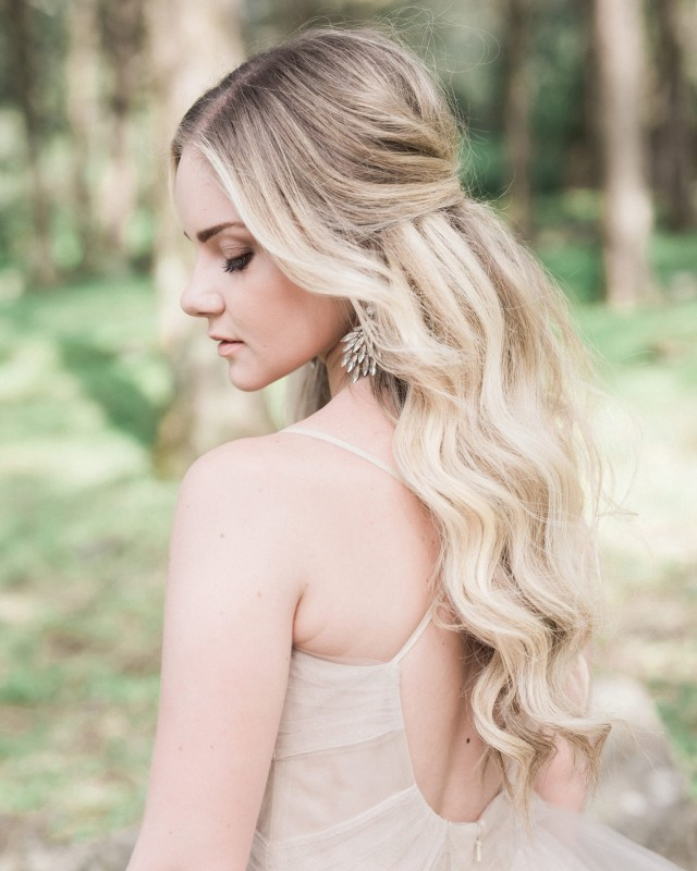 half-up, half-down wedding hairstyles we love | martha