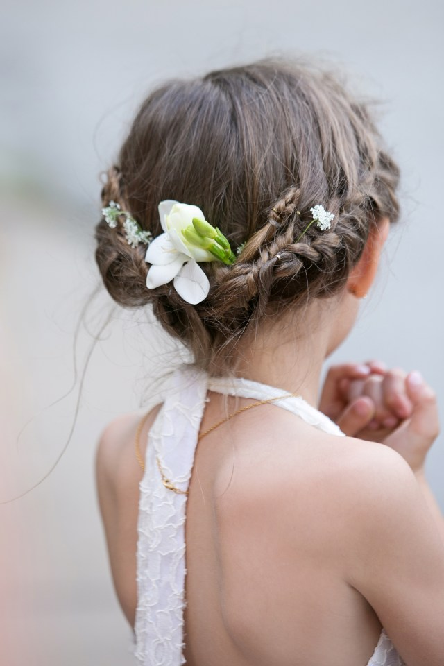 adorable hairstyle ideas for your flower girls | martha