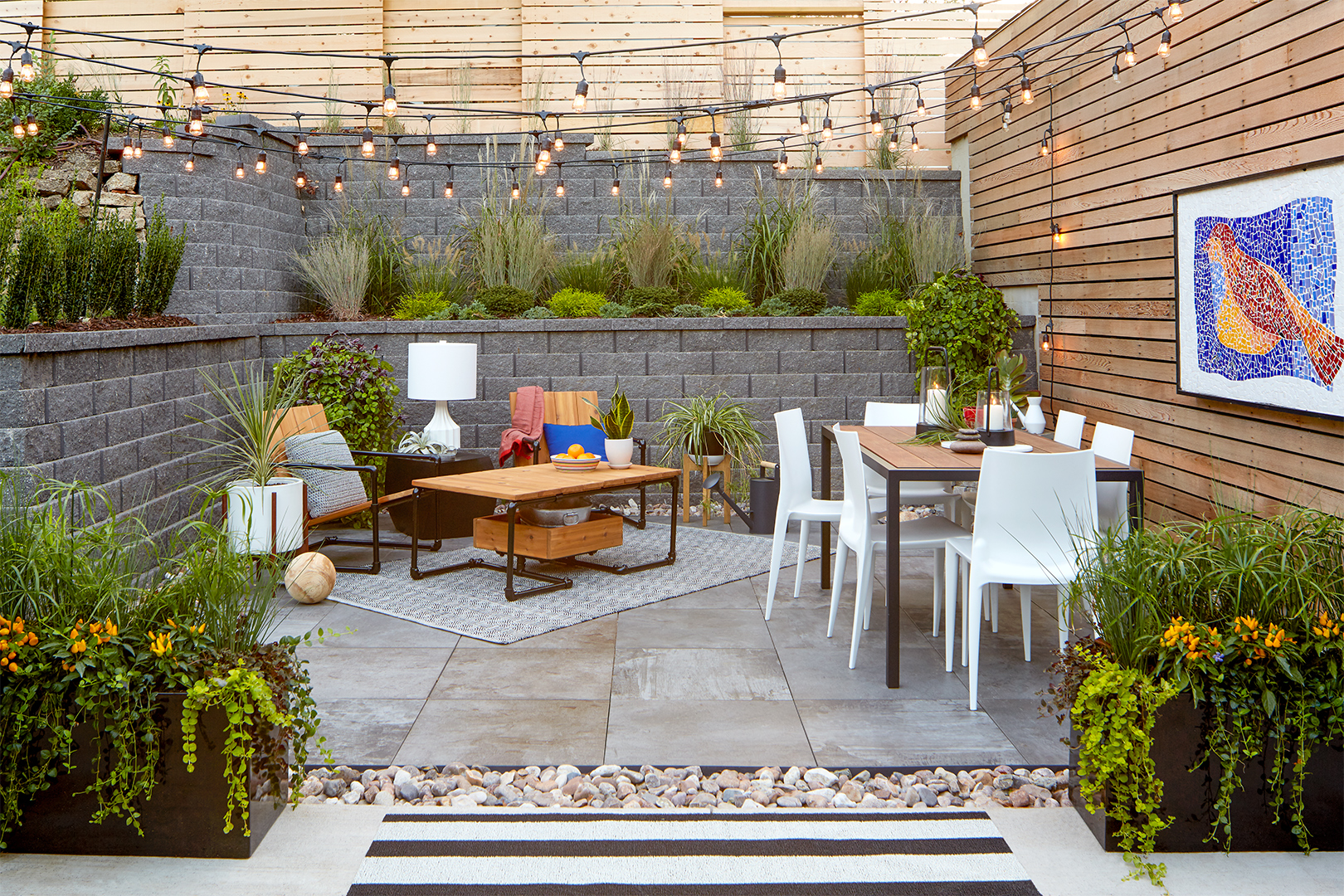 How To Install Poles To Hang Outdoor String Lights In Your Backyard Better Homes Gardens