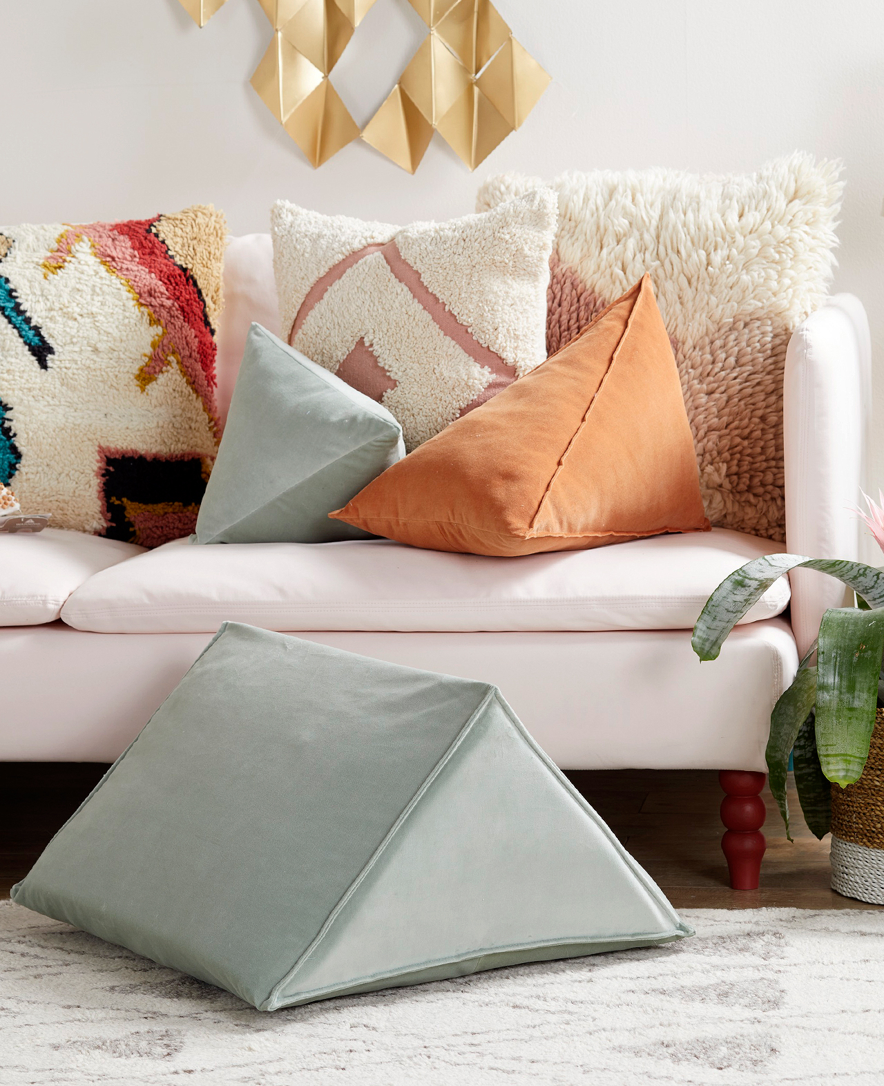geometric wedge pillow better homes