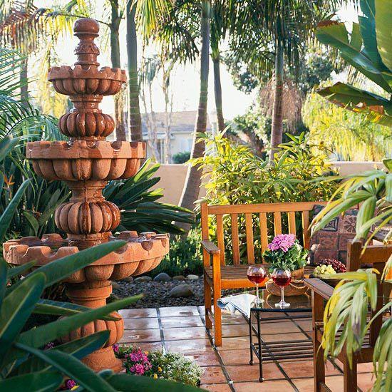saltillo tile patio better homes
