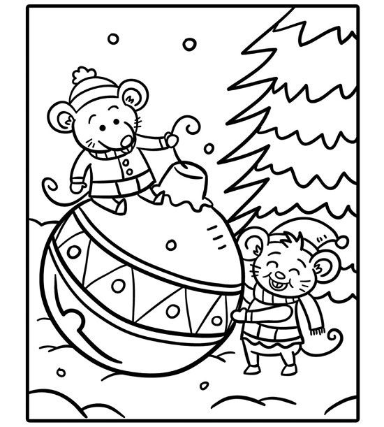 printable holiday coloring pages # 4