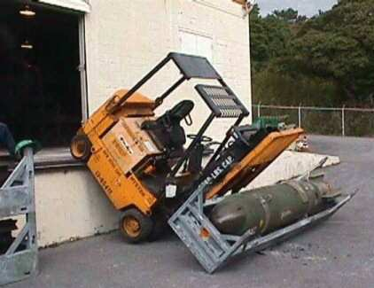 Forklift Accident with Bomb