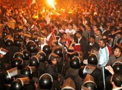 Egypt - Police and Protestors Clash