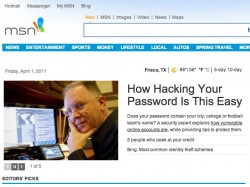 Hacking Passwords on MSN Homepage