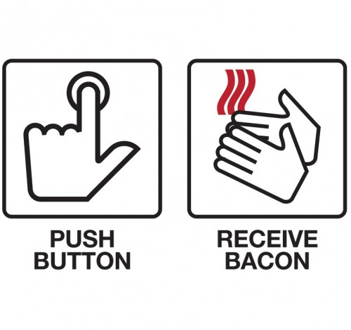 Push Button + Receive Bacon