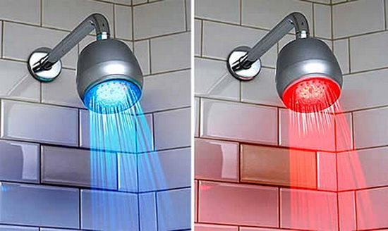 LED Shower Water Temperature Indicators