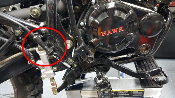 Hawk Rear Brake Actuator