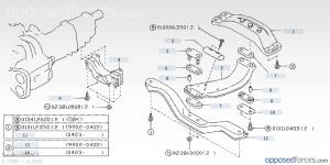Group N Transmission mounts  Subaru Outback  Subaru