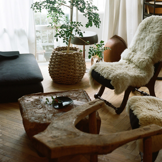 Home Decor Trends Wabi Sabi Living Room with Textiles and Wooden Furniture