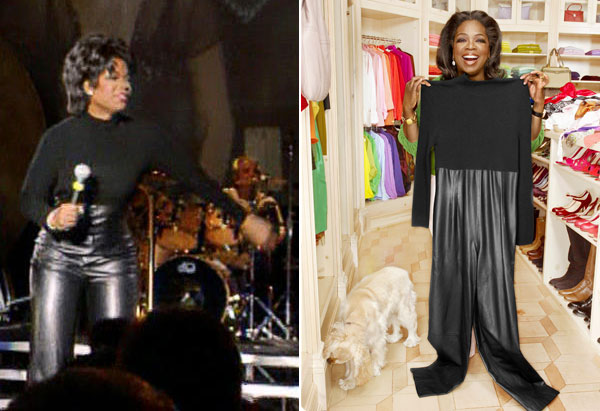 Oprah dancing with Tina Turner