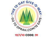 O's 12-Day Holiday Give-O-Way Sweepstakes december 1 icon