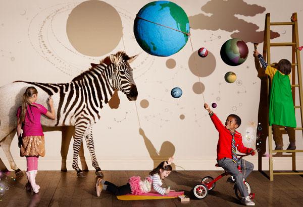 Painting a zebra