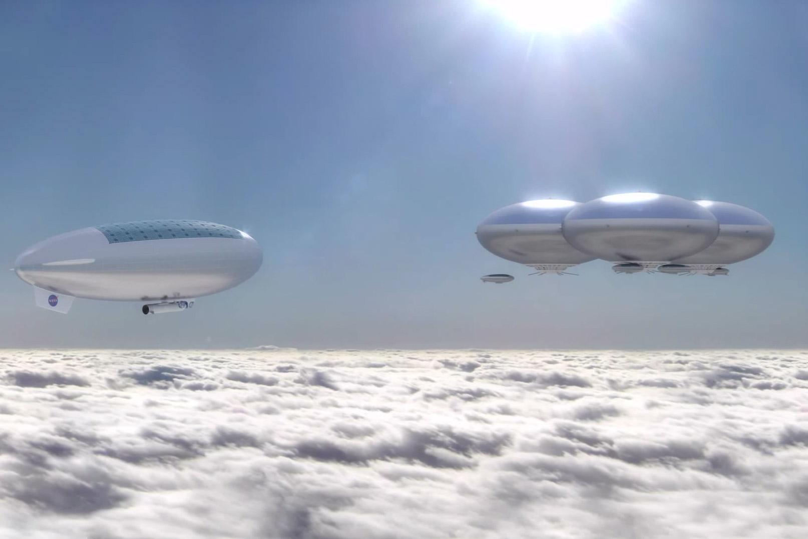 Ilyenek lennének a Vénusz felső légkörében lebegő városok