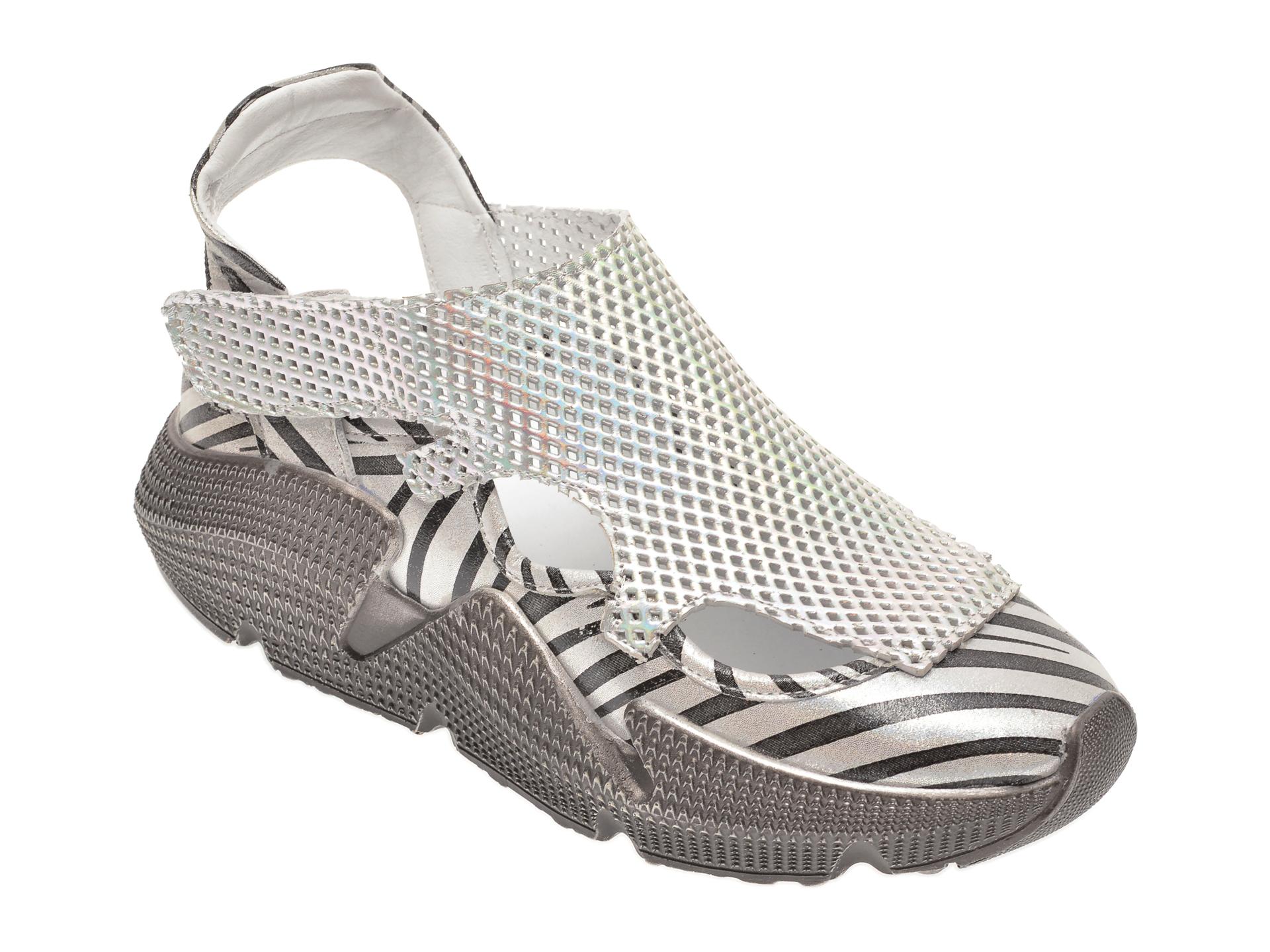 Pantofi FLAVIA PASSINI argintii, 135P74, din piele naturala