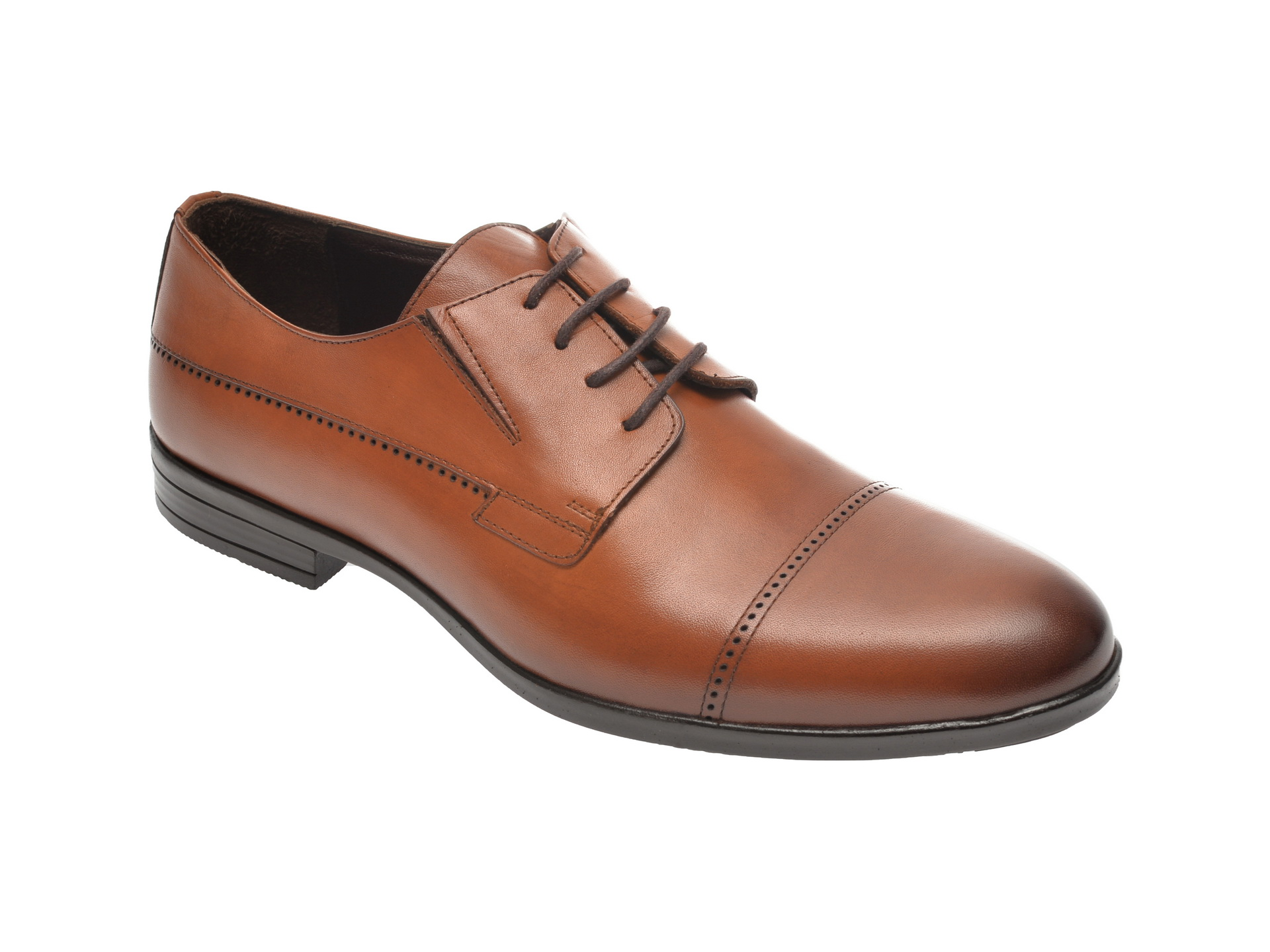 Pantofi OTTER maro, K34, din piele naturala