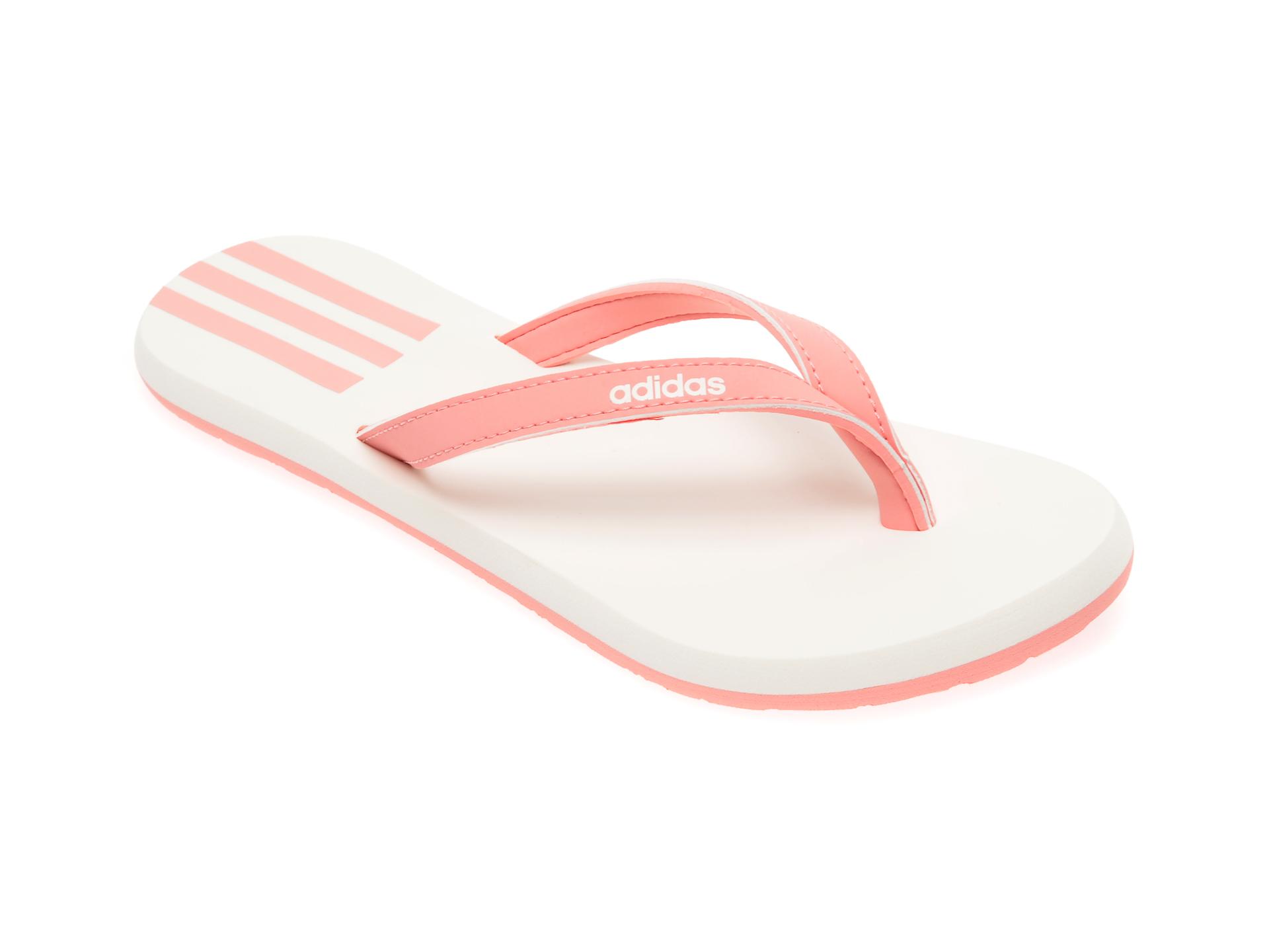 Papuci ADIDAS roz, Eezay Flip Flop, din piele ecologica