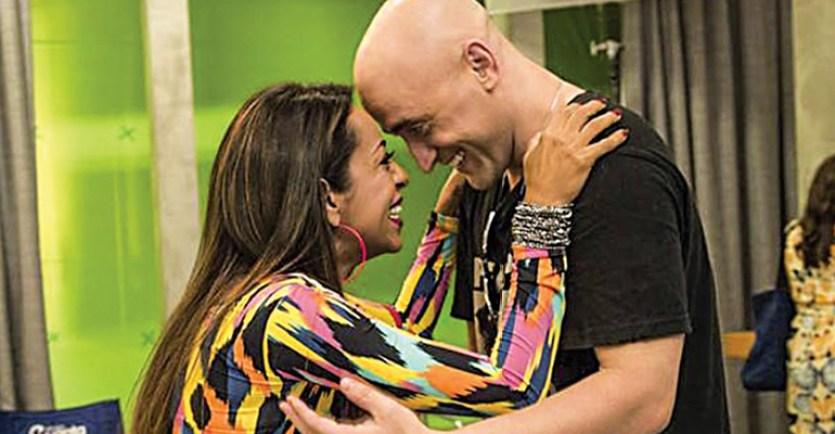 Samantha Schmütz e o ator Paulo Gustavo (Foto: Reprodução)