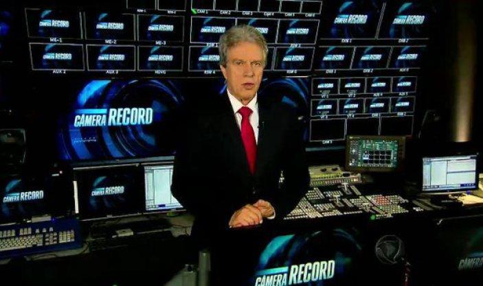 O jornalista Marcos Hummel apresenta o Câmera Record. (Foto: Reprodução/Record)