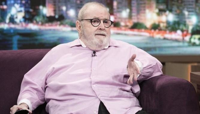 O apresentador Jô Soares em entrevista a Fábio Porchat na Record (Foto:Edu Moraes/Record)