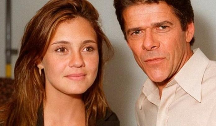 Adriana Esteves e José Mayer na novela Indomada, de Aguinaldo Silva. (Foto: Reprodução)