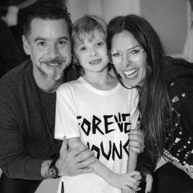 Adriane Galisteu, o filho e o marido (Foto: Reprodução/Instagram)