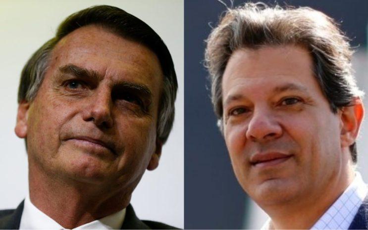 Jair Bolsonaro e Fernando Haddad disputam o segundo turno das eleições presidenciais (Foto: Divulgação/Montagem)