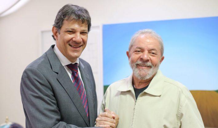 Fernando Haddad e ex-presidente Lula (Foto: Reprodução)