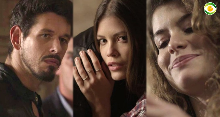 Isabel solta bomba nas mãos de Alain em Espelho da Vida (Foto: Montagem/TV Foco)