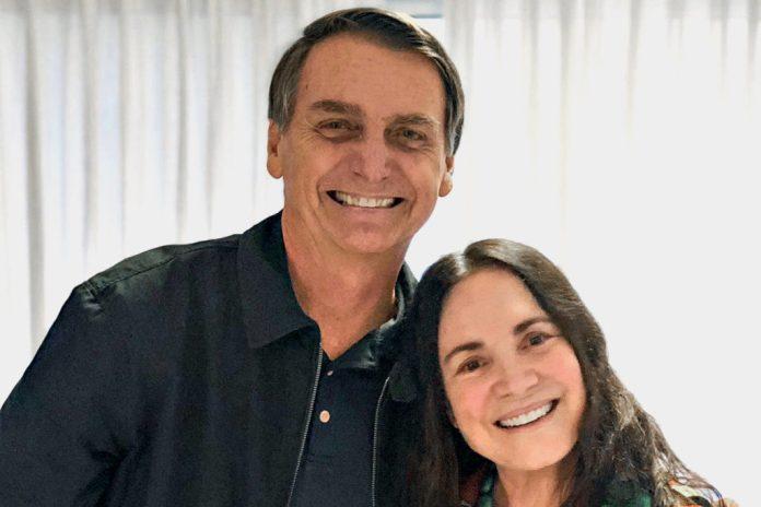 Regina Duarte e Jair Bolsonaro (Foto: Reprodução/Instagram)