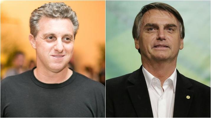 Luciano Huck nega que esteja apoiando Bolsonaro. (Foto: Montagem/Reprodução)