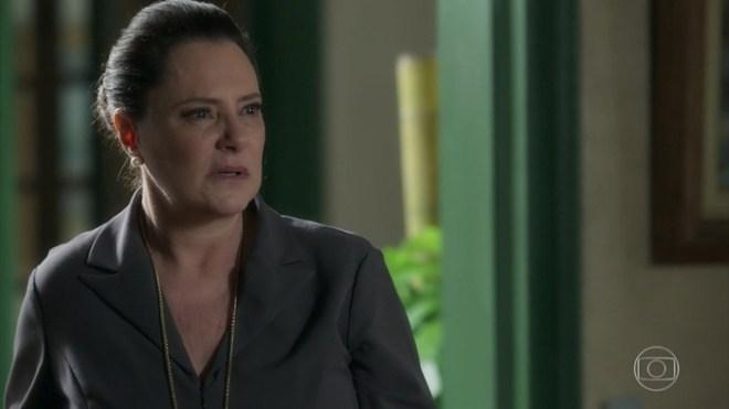Mirtes (Elizabeth Savala)em O Sétimo Guardião da Globo (Foto: Reprodução/Globo)
