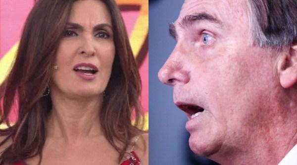 Fátima Bernardes e Jair Bolsonaro na Globo (Foto: Reprodução)