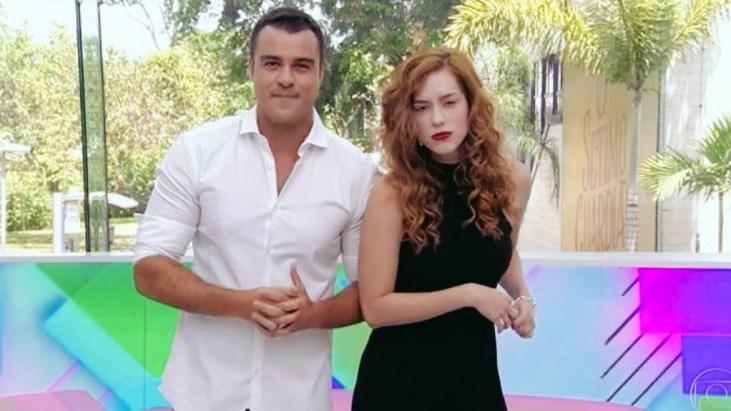 Joaquim Lopes e Sophia Abrahão apresentam o último 'Vídeo Show' na TV nesta sexta-feira, 11/1 — (Foto: TV Globo)