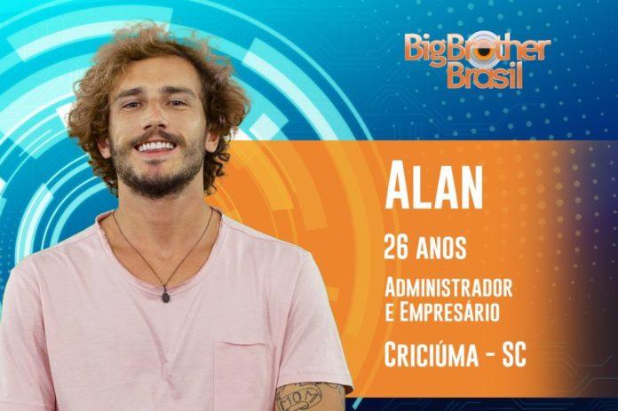 Alan é de Santa Catarina, tem 26 anos e estará no BBB19