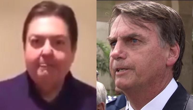 Faustão e Jair Bolsonaro (Foto: Reprodução)