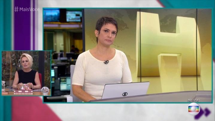 Sandra Annenberg no Mais Você (Foto: Divulgação)
