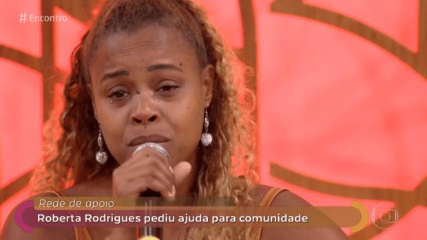 A atriz Roberta Rodrigues durante participação no Encontro (Foto: Reprodução/Globo)