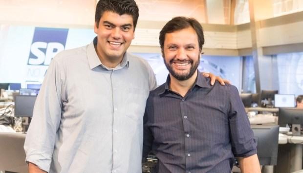 André Azeredo e Antonio Guerreiro, vice-presidente de Jornalismo da Record (Foto: Antonio Chahestian/Record)