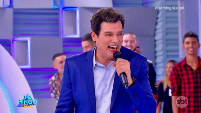 O apresentador Celso Portiolli no Domingo Legal, do SBT (Foto: Reprodução)