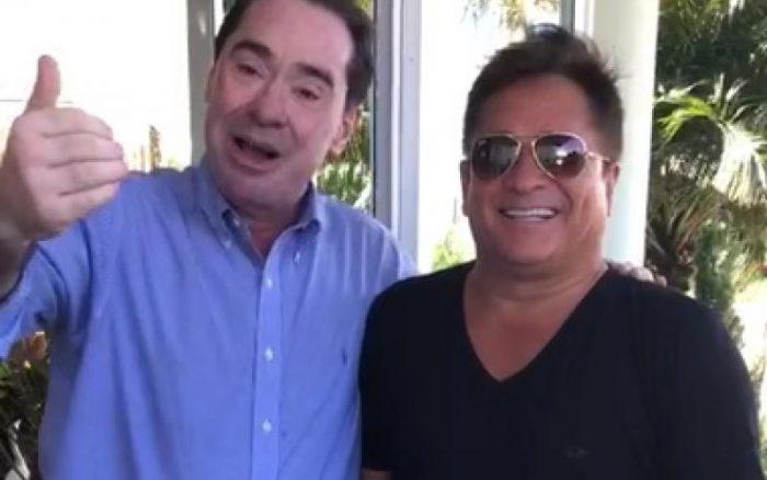 Leonardo e desembargador de SC em vídeo polêmico (Foto: Reprodução)