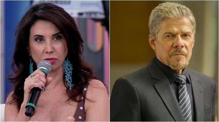 Cláudia Abreu já trabalhou com José Mayer em Tieta. (Foto: Montagem/Reprodução)