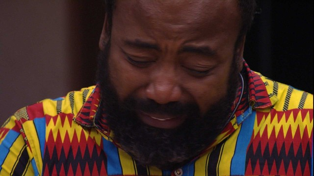 Rodrigo chora após eliminação de Danrley (Foto: Reprodução)
