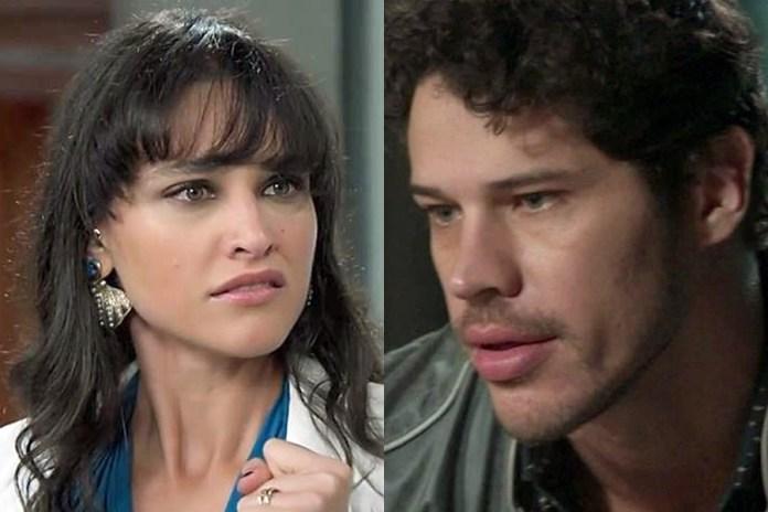 Débora Nascimento e José Loreto na Globo (Foto: Reprodução)